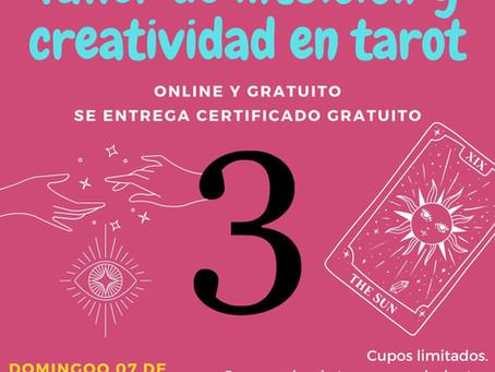 3° Taller gratuito de intuición y creatividad en tarot