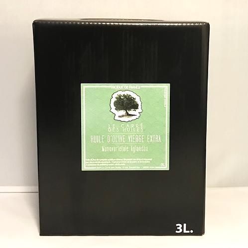 Huile d'Olive Monovariétale 100% Anglandau - BIB 3L