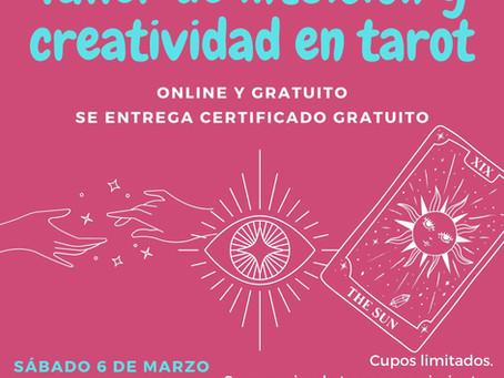 Taller gratuito de intuición y creatividad en tarot