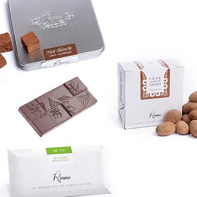 Coffret « Grand cru du chocolat Cru » - Chocolat cru Rrraw