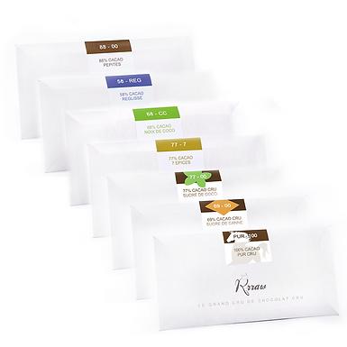 Coffret Tablettes - Chocolat cru Rrraw