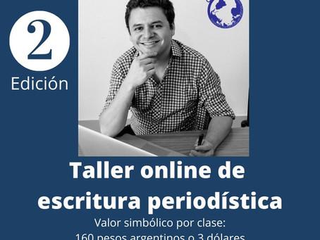 Nueva edición del taller online de escritura periodística