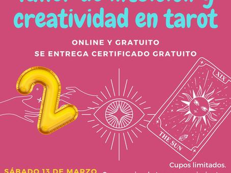 2° Taller gratuito de intuición y creatividad en tarot