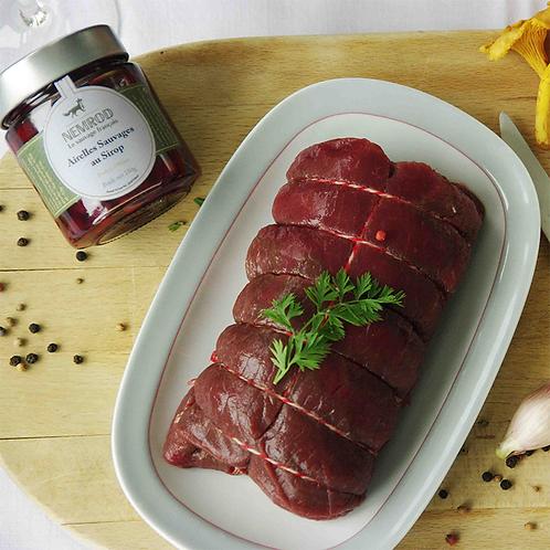 Box à cuisiner : Rôti de biche, risotto aux girolles, sauce aux airelles -Nemrod