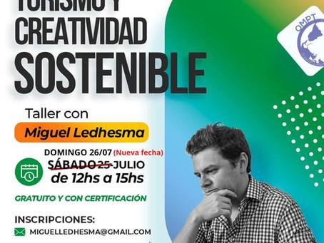 Nueva fecha taller gratuito y con certificación: Turismo y creatividad sostenible