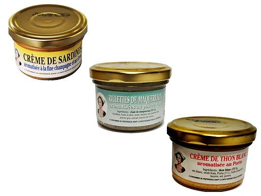 Lot de 3 crèmes apéritives - Sardines La Quiberonnaise