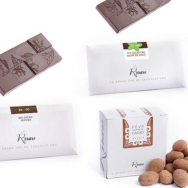 Coffret « Noir » - Chocolat cru Rrraw