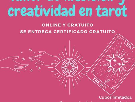 Talleres gratuitos de intuición y creatividad en tarot