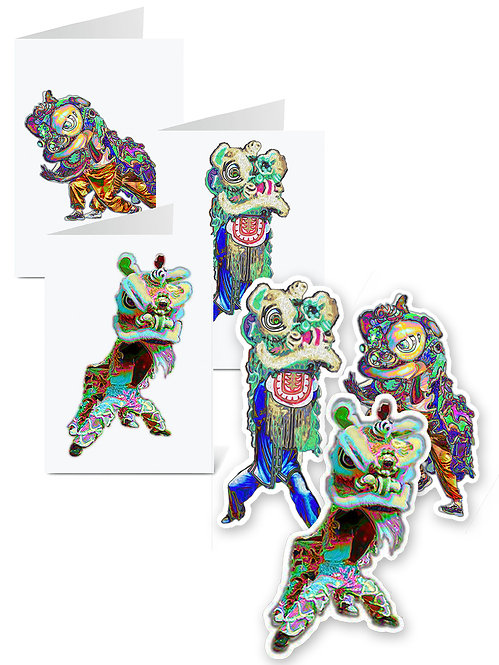 HOW to Ward Off Evil Spirits Sticker & Greeting Card Bundle