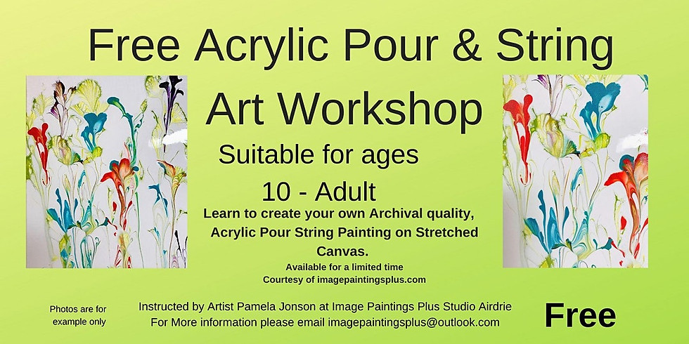 Free Acrylic Pour and String Art Workshop