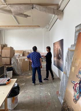 Studio Visit! Showing Richard Scarry and Devon DeJardin Around