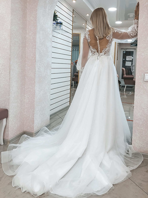 Свадебное платье светящееся в темноте Кассиопея
