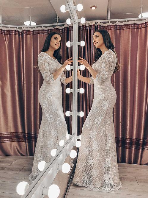 кружевное свадебное платье рыбка Валери