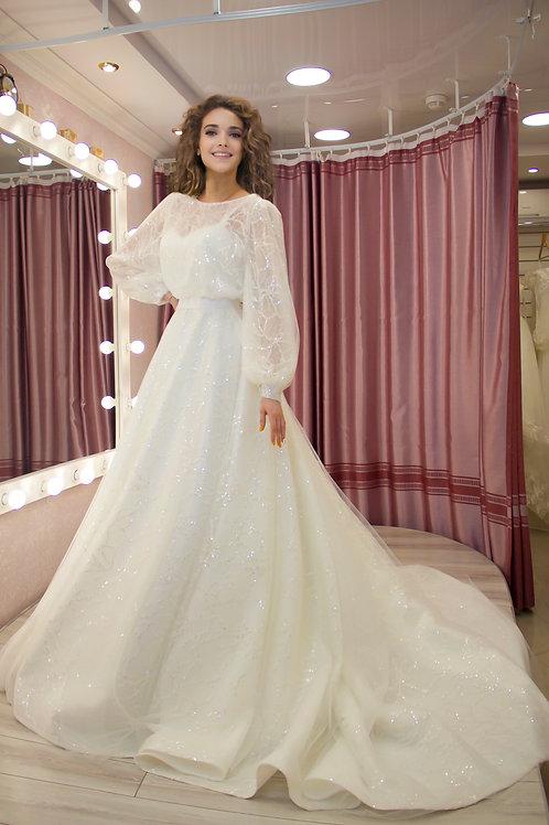 свадебное платье Ангелика споса со съемным болеро