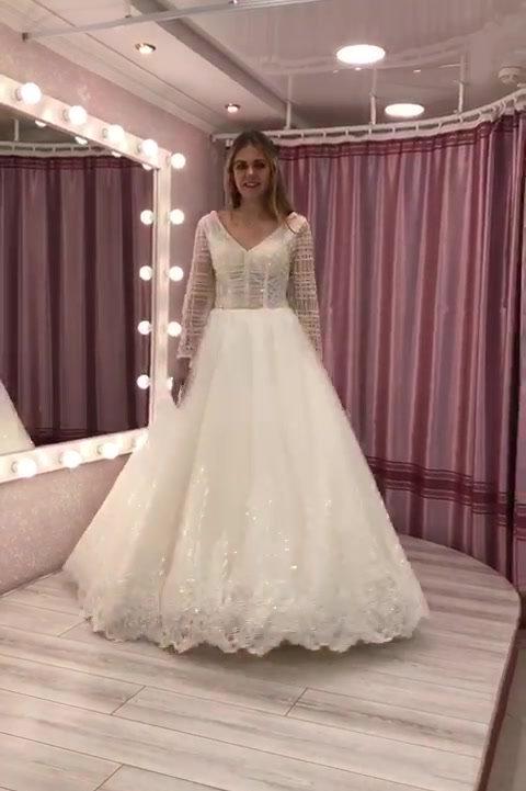 Видео Свадебное платье Адель