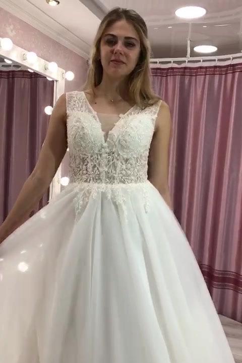 Свадебное платье видео, Диадема