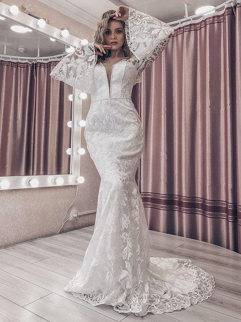 Свадебное платье рыбка Мега