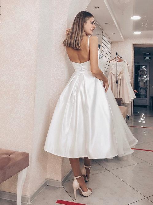 Свадебное платье миди Лейсан