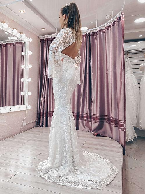 Кружевное свадебное платье рыбка Мега