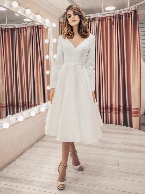 Свадебное платье миди Лори