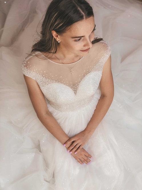 пышное свадебное платье Сахарок