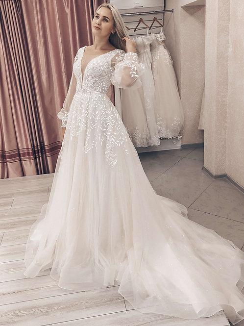 Свадебное платье светящееся в темноте Молли