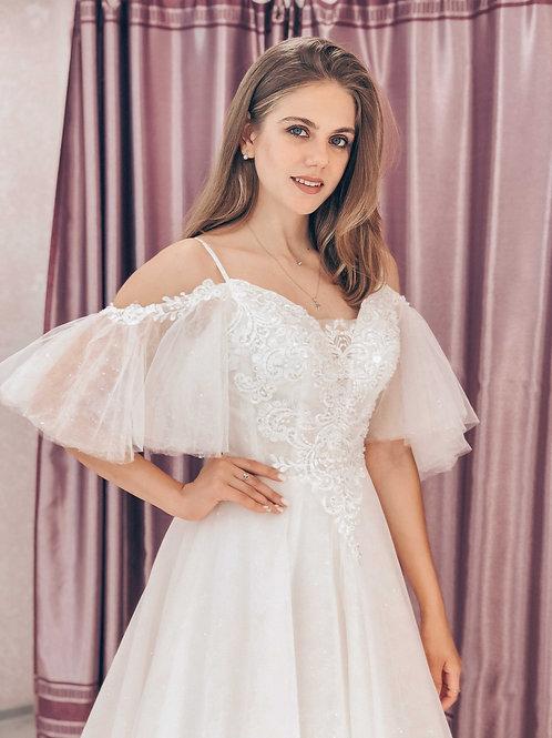 Свадебное платье Бьянка со шлейфом