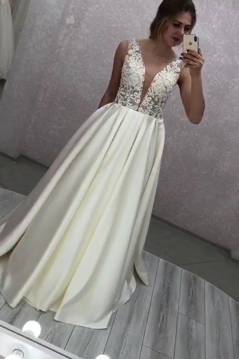 Атласное свадебное платье Розмари