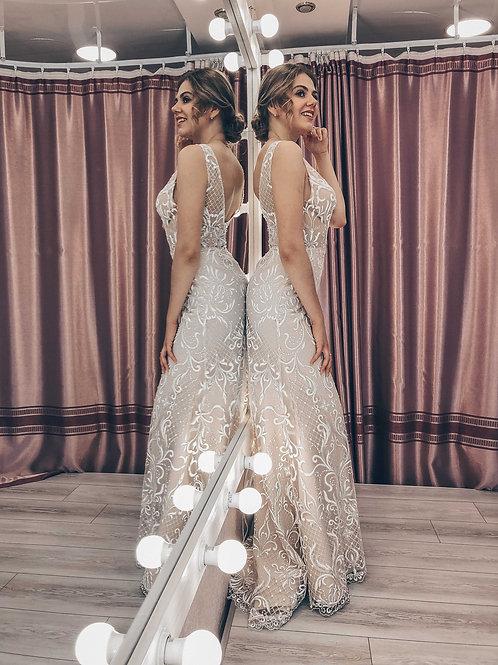 светящееся в темноте свадебное платье Латте