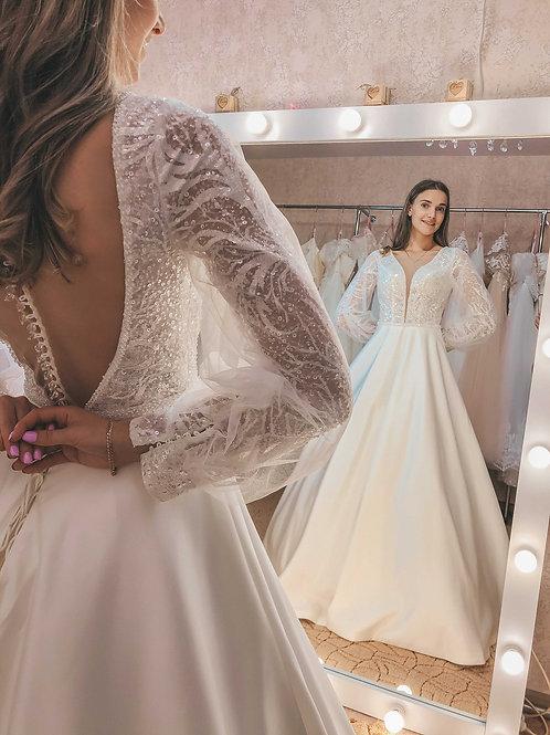 атласное Свадебное платье Ruta
