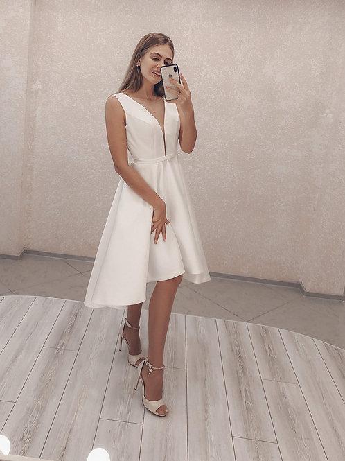 Свадебное платье миди Ника