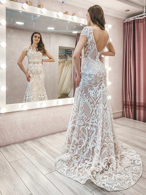 Свадебное платье рыбка Мишель