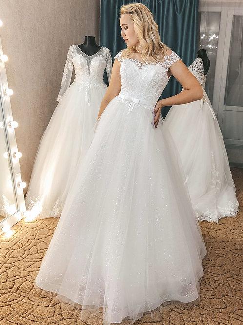 блестящее свадебное платье Марина