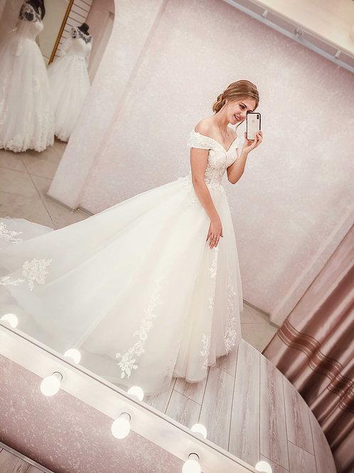 Свадебное платье со шлейфом Гламур