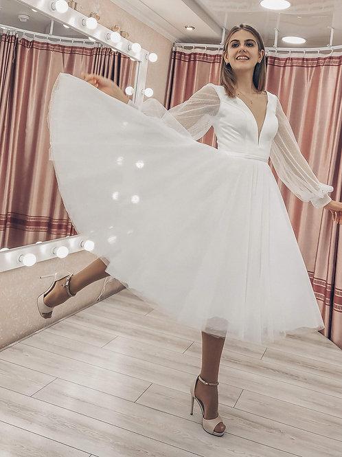 Свадебное платье миди Версаль