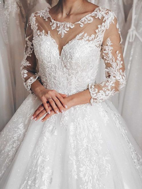 пышное свадебное платье Лаура