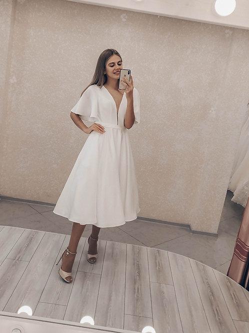 Свадебное платье миди Натали