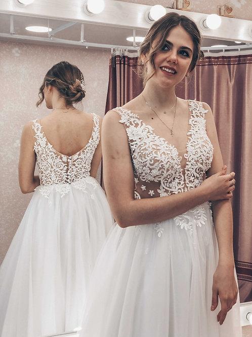 легкое свадебное платье Love