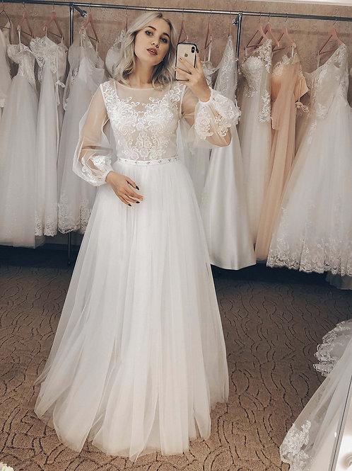 свадебное платье Олеся, рукава-фонарики