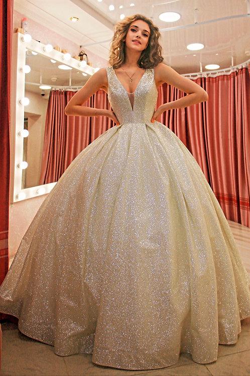 шикарное свадебное платье Голд
