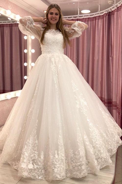 Свадебное платье Хелена фонарик