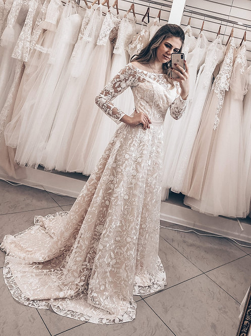 Кружевное свадебное платье Розанна