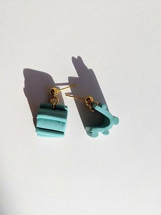 Irides Blue: Mini Hoop Dangles
