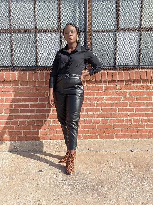 Pull Up High Waist Trousers