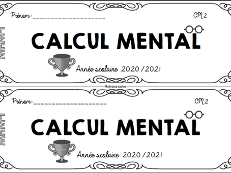 Fichier de calcul mental - cycle 3 - MHM