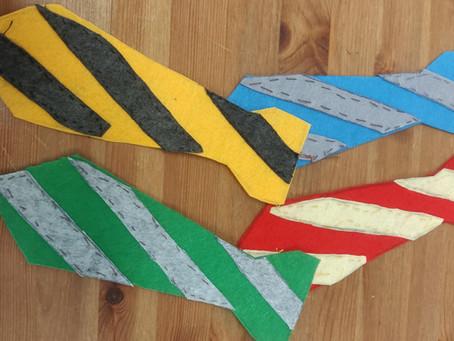 Projet Couture - réaliser sa cravate Harry Potter