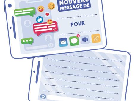 Smartphone bienveillant (message positif - courrier Mailhibou)