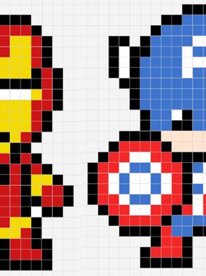 Pixels Art : Super-Héros
