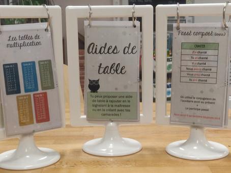 Aides de Table (version CM2)