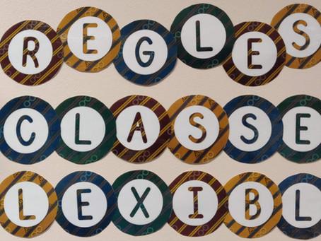 Les règles de la classe flexible ou l'aménagement flexible